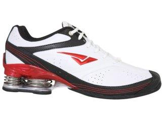 Tênis Masculino Bouts 7812 Branco/vermelho - Tamanho Médio