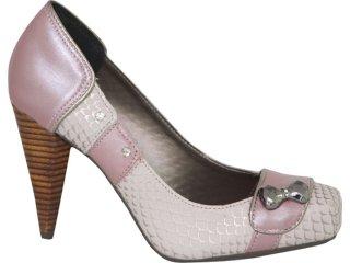 Sapato Feminino Tanara 0982 Gelo/rose - Tamanho Médio