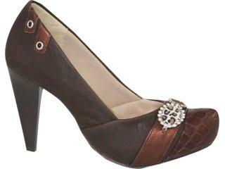 Sapato Feminino Ramarim 1023105 Marrom - Tamanho Médio