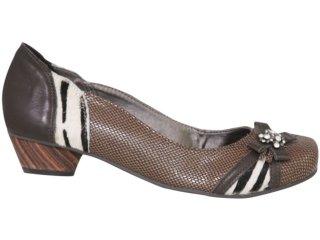 Sapato Feminino Tanara 1192 Chocolate - Tamanho Médio