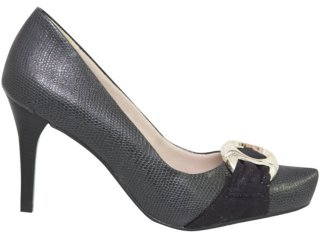 Sapato Feminino Ramarim 1021204 Preto - Tamanho Médio