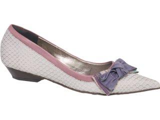 Sapato Feminino Tanara 1052 Gelo - Tamanho Médio