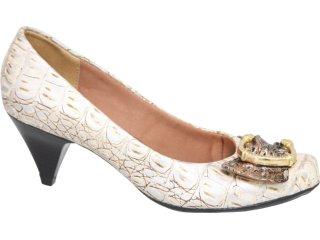 Sapato Feminino Guth Guthy 50920 Croco Bege - Tamanho Médio