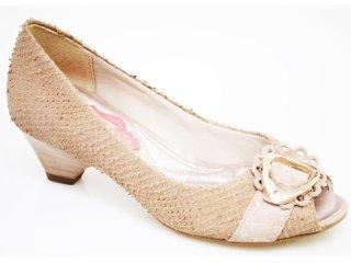 Sapato Feminino Ramarim 1012207 Amendoa - Tamanho Médio