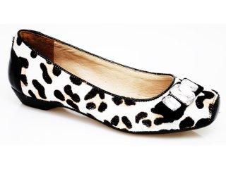 Sapatilha Feminina Tanara 9681 Preto/leopardo - Tamanho Médio