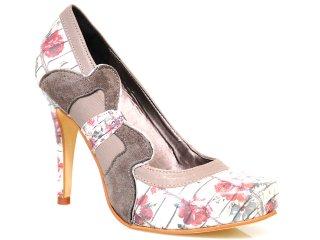 Sapato Feminino Tanara 1001 Floral - Tamanho Médio