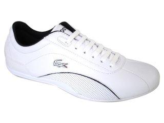 Tênis Masculino Lacoste Shua Lace 18spm0701 Branco/preto - Tamanho Médio