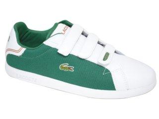 Tênis Masculino Lacoste Prep gp 18spm1091 Verde/branco - Tamanho Médio