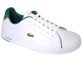 Tênis Masculino Lacoste Carnaby gp 18spm0921 Branco/verde - Tamanho Médio