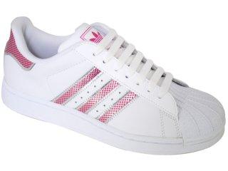 Tênis Feminino Adidas Star G19834 Branco/cereja - Tamanho Médio