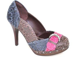 Sapato Feminino Tanara 0935 Marinho/pink - Tamanho Médio