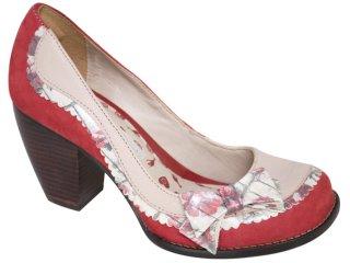 Sapato Feminino Tanara 1222 Vermelho Colorido - Tamanho Médio