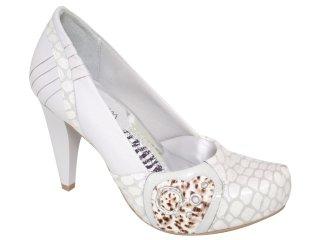 Sapato Feminino Ramarim 1023103 Gelo - Tamanho Médio