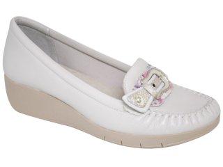 Sapato Feminino Comfortflex 97104 Gelo - Tamanho Médio