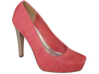 Sapato Feminino Via Marte 10-16005 Coral - Tamanho Médio