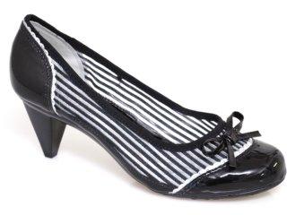 Sapato Feminino Moleca 5110100 Multi Preta - Tamanho Médio