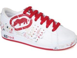 Tênis Feminino Ecko 26551 Branco/vermelho - Tamanho Médio