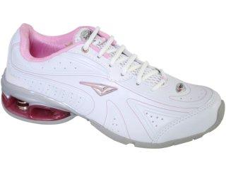 Tênis Feminino Bouts 8723 Branco/rosa - Tamanho Médio