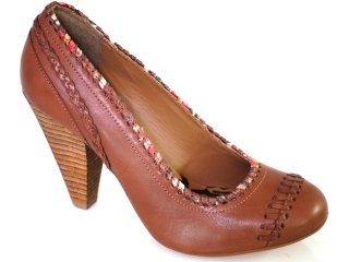 Sapato Feminino Cravo e Canela Cravo & Canela 62201 Cacau - Tamanho Médio