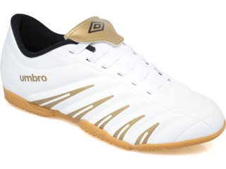 Tênis Masculino Umbro Prime 10106 Branco/dourado - Tamanho Médio