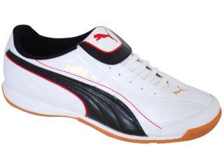Tênis Masculino Puma 101603 Branco/preto - Tamanho Médio
