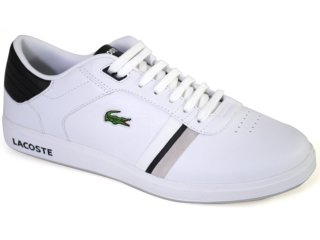 Tênis Masculino Lacoste Kersley Spm2701 Branco/preto - Tamanho Médio