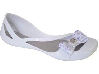 Sapatilha Feminina Branca Flor 009 Branco - Tamanho Médio