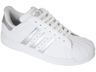 Tênis Feminino Adidas G19835 Star 2 Bling Branco/prata - Tamanho Médio