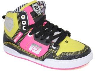 Tennis Bota Feminina Free Day 11454 Preto/pink - Tamanho Médio