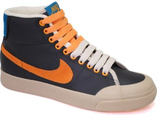 Tênis Masculino Nike All Court 387159-002 Preto/bege/laranja - Tamanho Médio