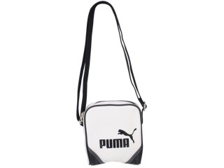 Bolsa Feminina Puma 067574 Branco/preto - Tamanho Médio