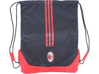 Bolsa Masculina Adidas V00524 Preto/vermelho - Tamanho Médio