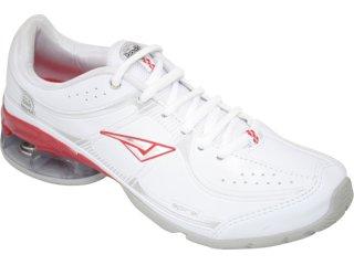Tênis Feminino Bouts 8724 Branco/vermelho - Tamanho Médio