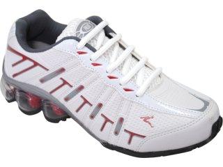 Tênis Masculino Pulma 3060 Branco/vermelho - Tamanho Médio