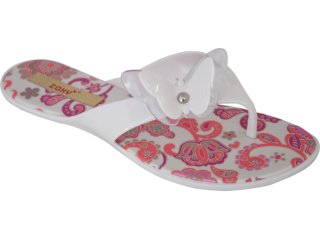 Tamanco Feminino Grendene Zaxy 16130 Branco/rosa - Tamanho Médio