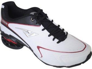 Tênis Masculino Bouts 9012 Branco/pt/vermelho - Tamanho Médio