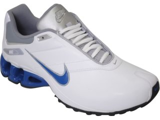 Tênis Masculino Nike Impax Emirro 386501-103 Branco/azul - Tamanho Médio