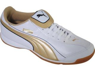 Tênis Masculino Puma 101603 Branco/ouro - Tamanho Médio