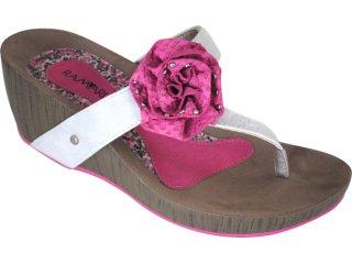 Tamanco Feminino Ramarim 1057201 Gelo/pink - Tamanho Médio