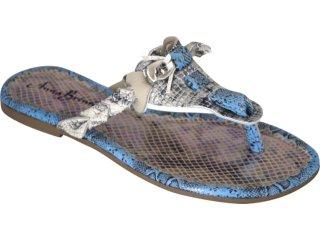 Tamanco Feminino Brenners 777 Marfim/azul - Tamanho Médio