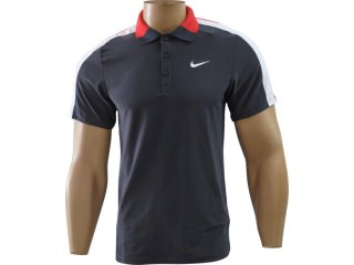 Camisa Masculina Nike 383062-060 Preto/vermelho - Tamanho Médio