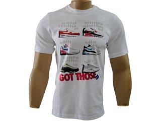 Camiseta Masculina Nike 411031-100 Branco - Tamanho Médio