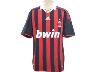 Camisa Masculina Adidas E84210 Milan Preto/vermelho - Tamanho Médio