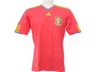Camiseta Masculina Adidas P47902 Espanha Vermelho - Tamanho Médio