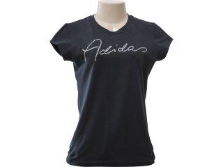 T-shirt Feminino Adidas P25096 Preto - Tamanho Médio