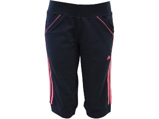 Calça Feminina Adidas P09011 Preto/rosa - Tamanho Médio