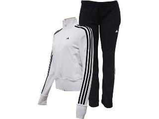 Abrigo Feminino Adidas E14707 Branco/preto - Tamanho Médio