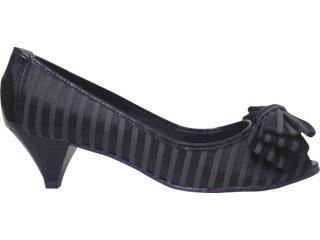 Sapato Feminino Cravo e Canela 64308 6761 Listrado Preto - Tamanho Médio