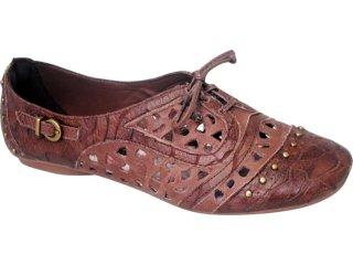 Sapato Feminino Oxford Tanara 2221 Camel - Tamanho Médio