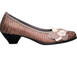 Sapato Feminino Bela Flor 3003 Avelã Peixe - Tamanho Médio